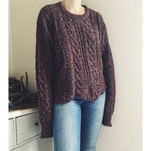 Eddie Bauer Cropped Cable Knit